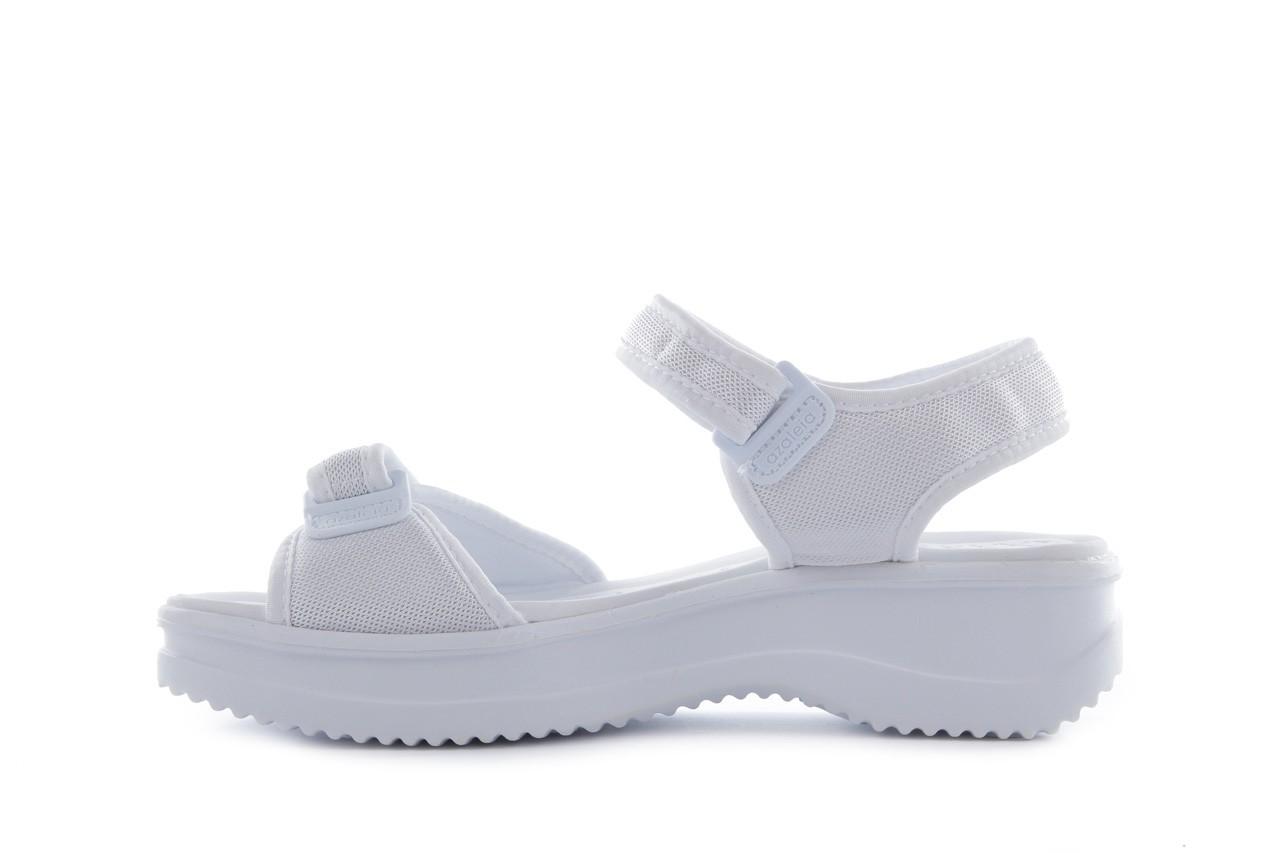 Sandały azaleia 320 321 white 20, biały, materiał - mega okazje - ostatnie rozmiary 8
