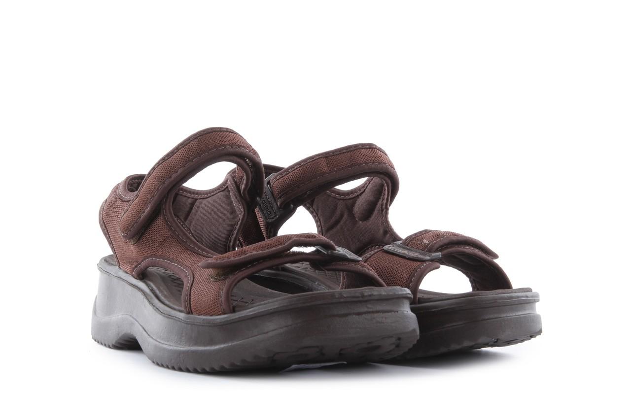 Sandały azaleia 320 323 brown 18, brąz, materiał - obuwie sportowe - buty damskie - kobieta 8