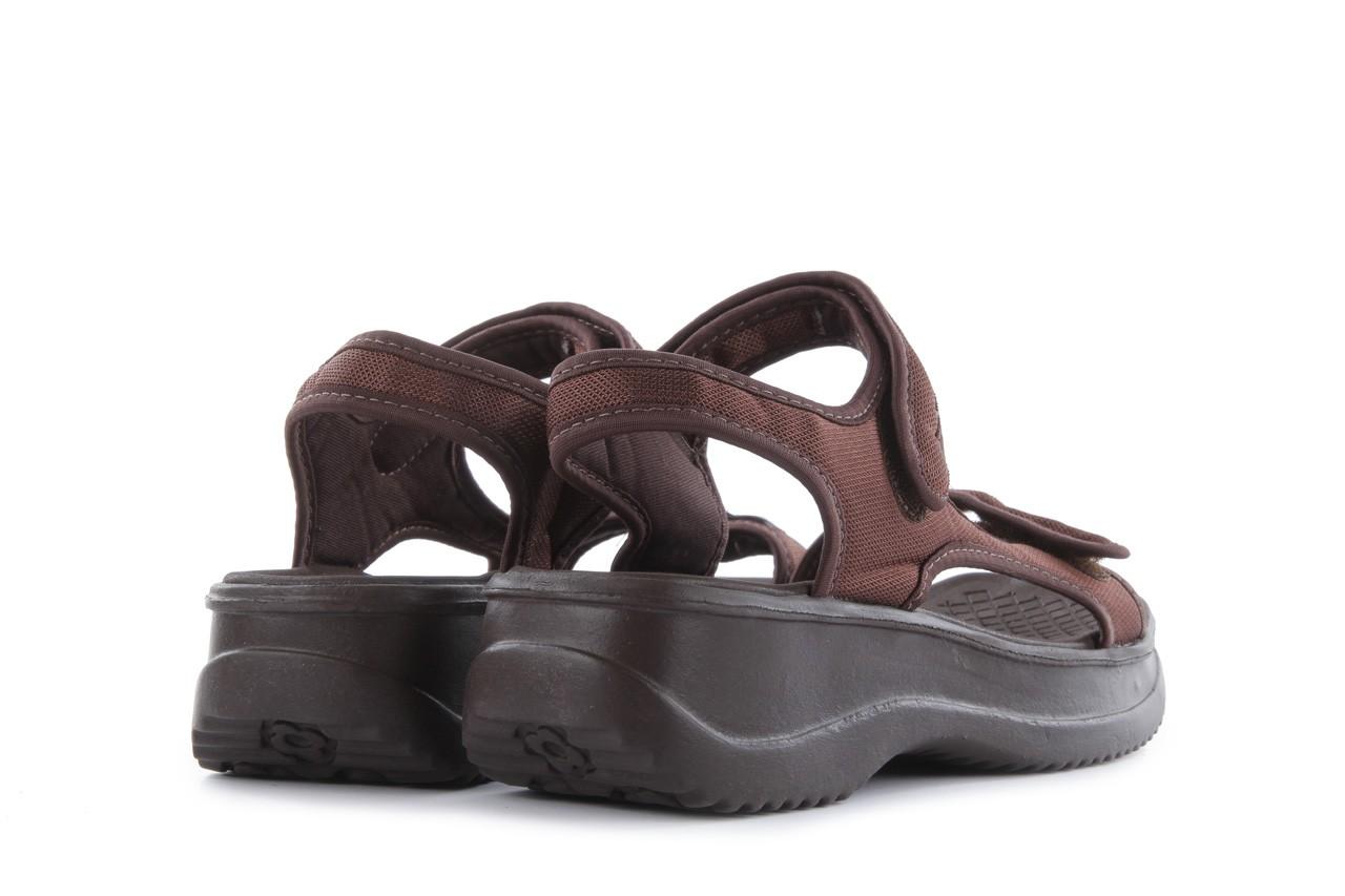 Sandały azaleia 320 323 brown 18, brąz, materiał - obuwie sportowe - buty damskie - kobieta 10