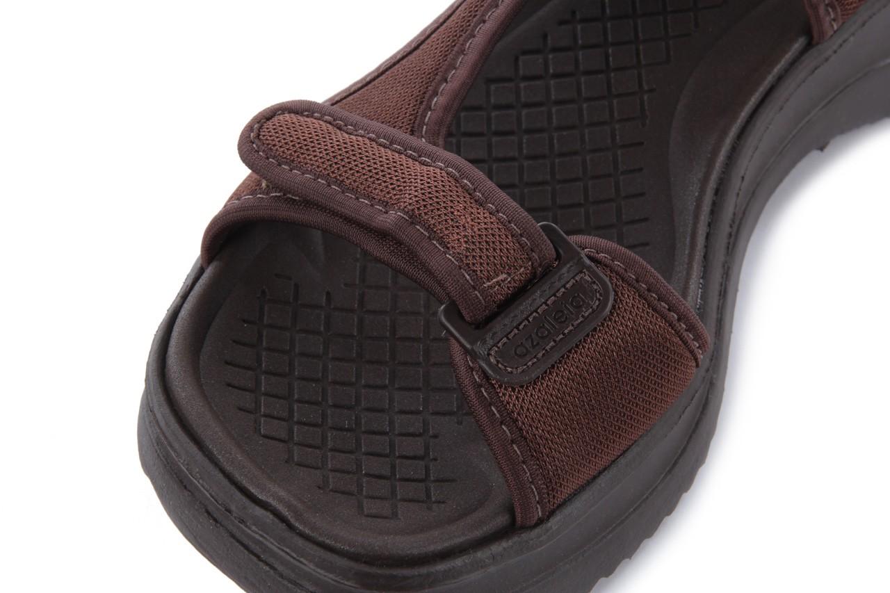 Sandały azaleia 320 323 brown 18, brąz, materiał - obuwie sportowe - buty damskie - kobieta 12