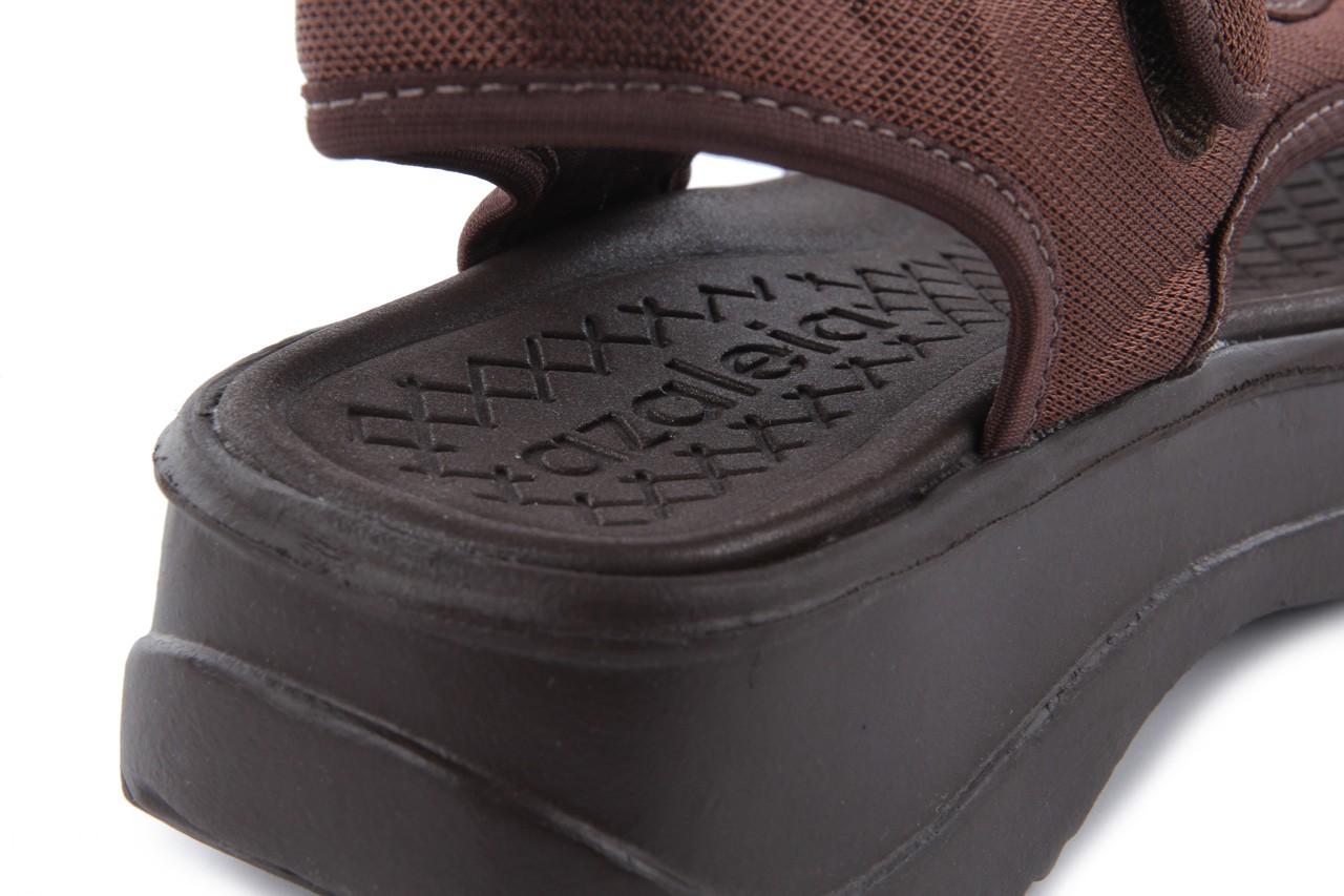 Sandały azaleia 320 323 brown 18, brąz, materiał - obuwie sportowe - buty damskie - kobieta 13