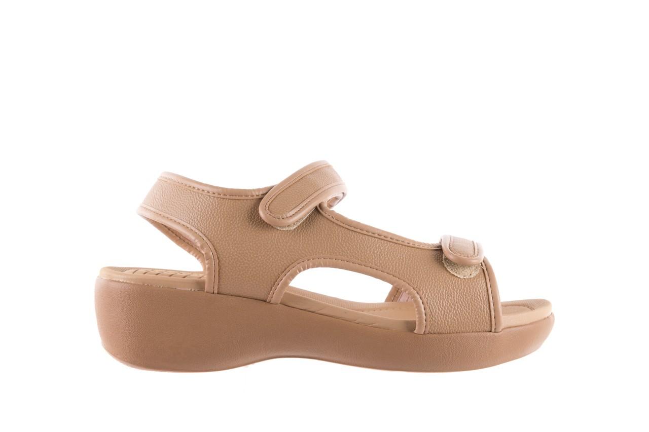 Sandały azaleia 346 602 napa beige, beż, materiał - na koturnie - sandały - buty damskie - kobieta 6