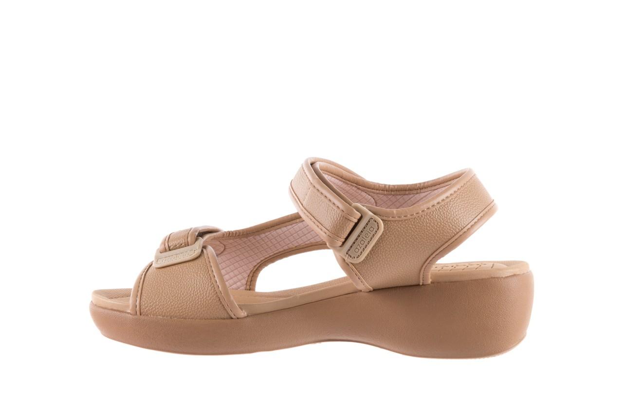 Sandały azaleia 346 602 napa beige, beż, materiał - na koturnie - sandały - buty damskie - kobieta 8