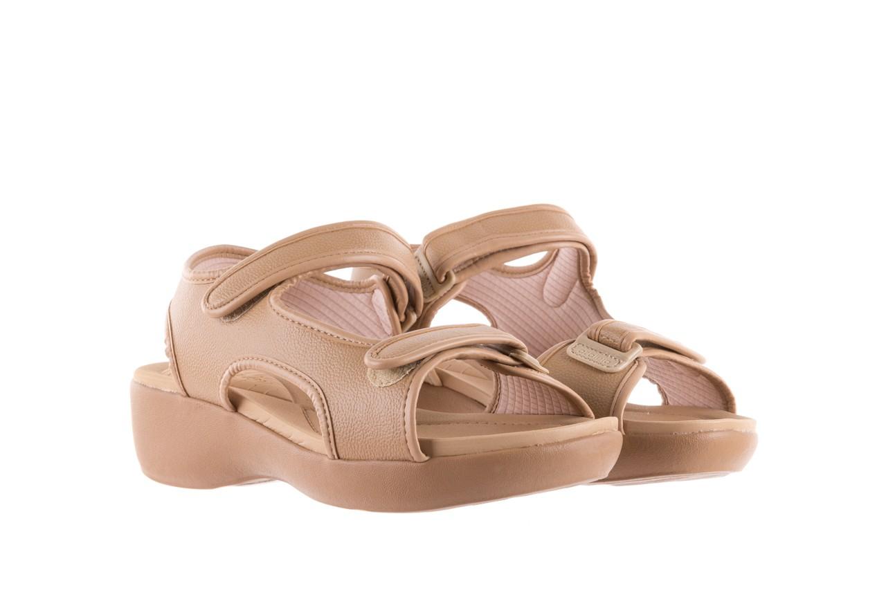 Sandały azaleia 346 602 napa beige, beż, materiał - na koturnie - sandały - buty damskie - kobieta 7