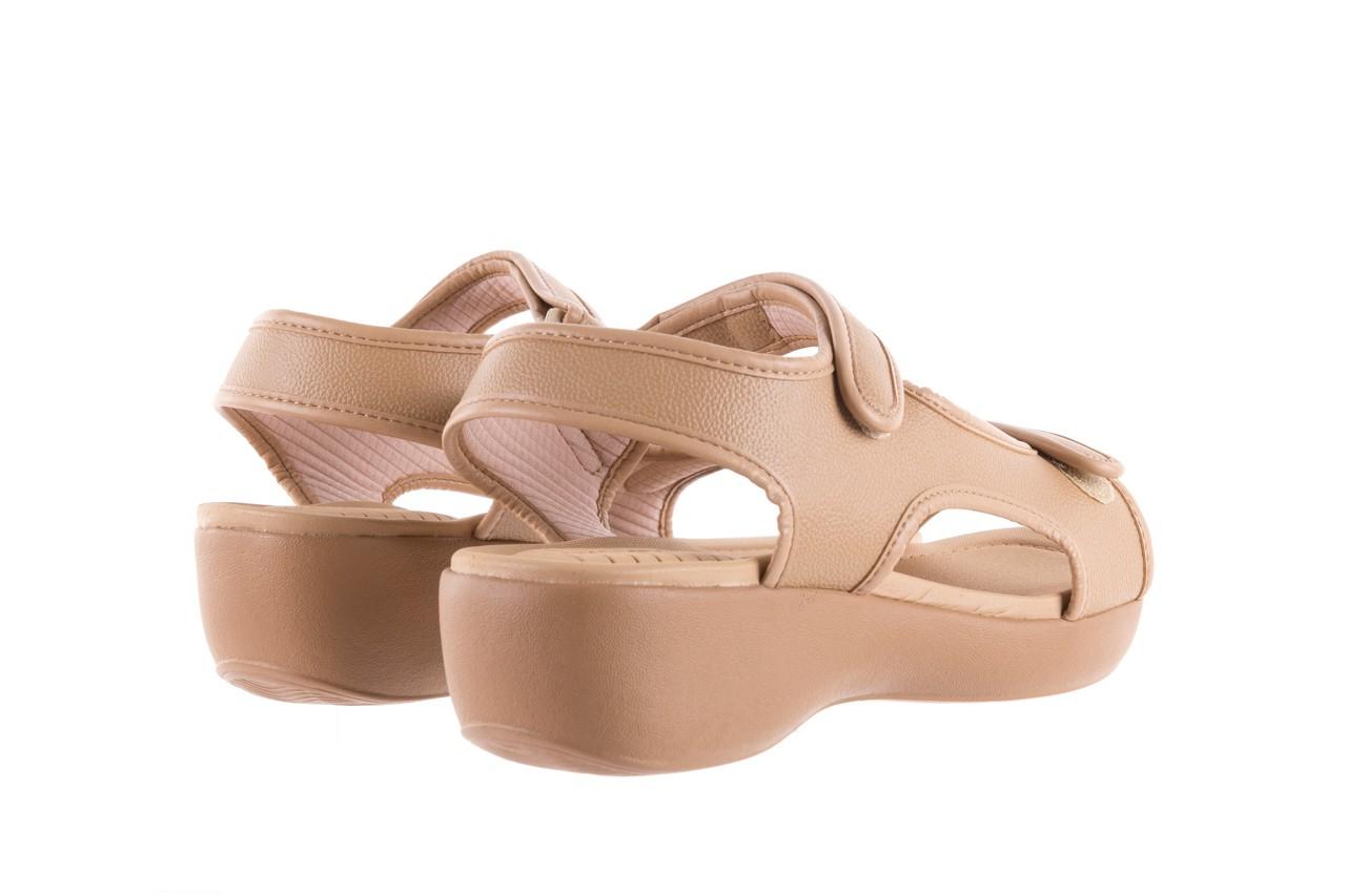Sandały azaleia 346 602 napa beige, beż, materiał - na koturnie - sandały - buty damskie - kobieta 9
