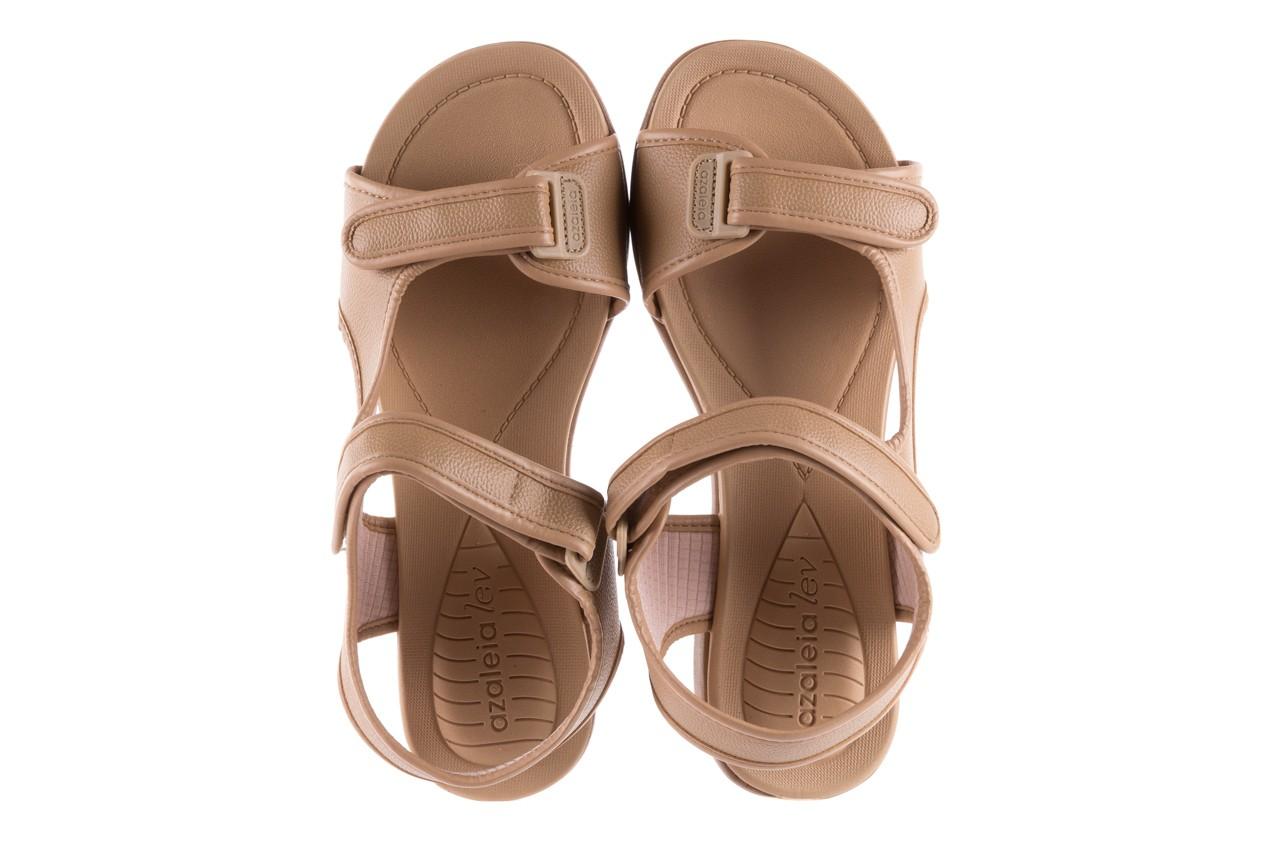 Sandały azaleia 346 602 napa beige, beż, materiał - na koturnie - sandały - buty damskie - kobieta 10
