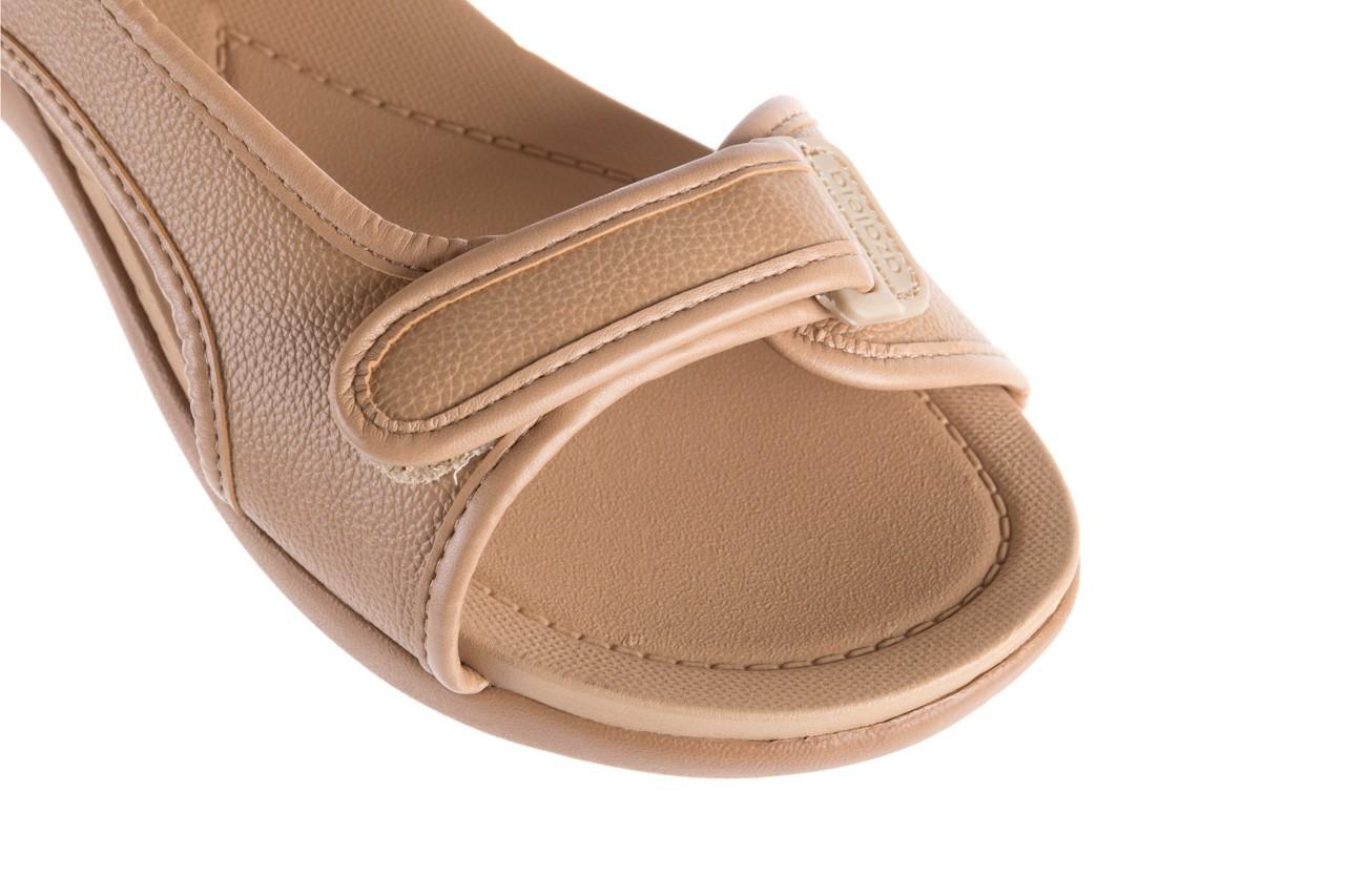 Sandały azaleia 346 602 napa beige, beż, materiał - na koturnie - sandały - buty damskie - kobieta 11