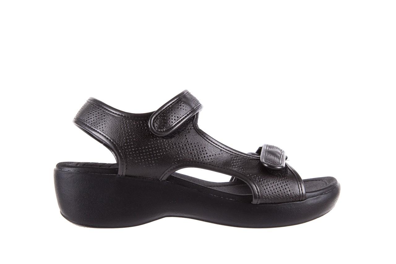 Sandały azaleia 346 602 perf black, czarny, materiał 7