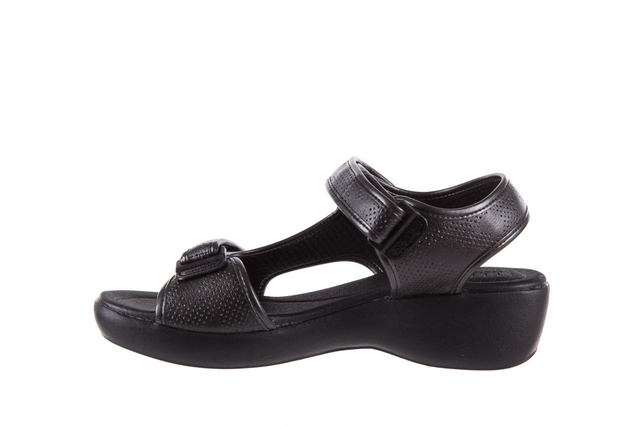 Sandały azaleia 346 602 perf black, czarny, materiał 9