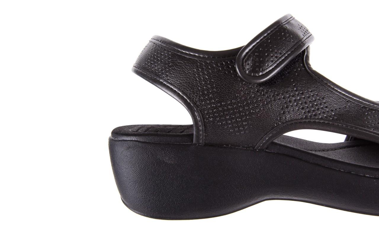 Sandały azaleia 346 602 perf black, czarny, materiał 12