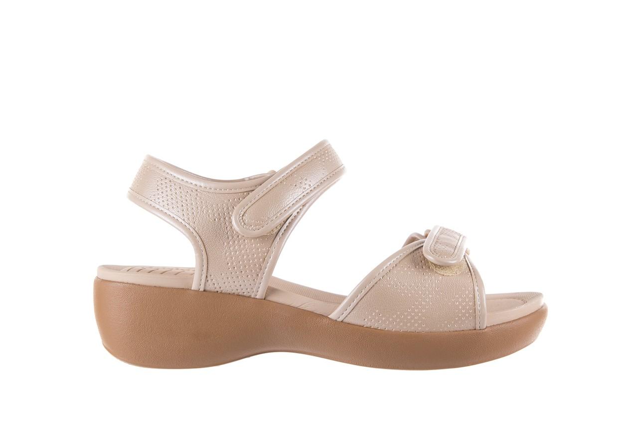Sandały azaleia 346 601 perf ivory, beż, materiał  - azaleia - nasze marki 7