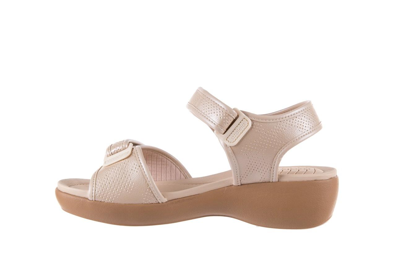 Sandały azaleia 346 601 perf ivory, beż, materiał  - azaleia - nasze marki 9