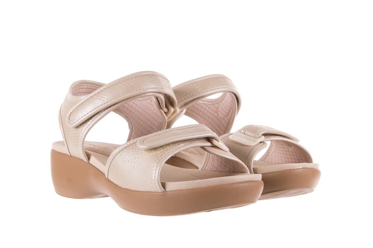 Sandały azaleia 346 601 perf ivory, beż, materiał  - azaleia - nasze marki 8