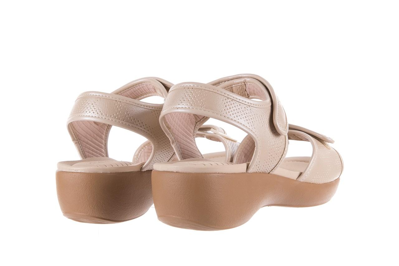 Sandały azaleia 346 601 perf ivory, beż, materiał  - azaleia - nasze marki 10