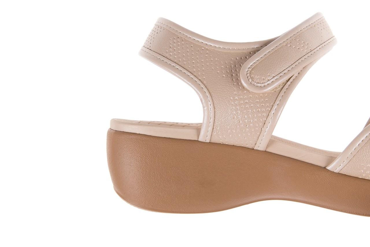 Sandały azaleia 346 601 perf ivory, beż, materiał  - azaleia - nasze marki 13