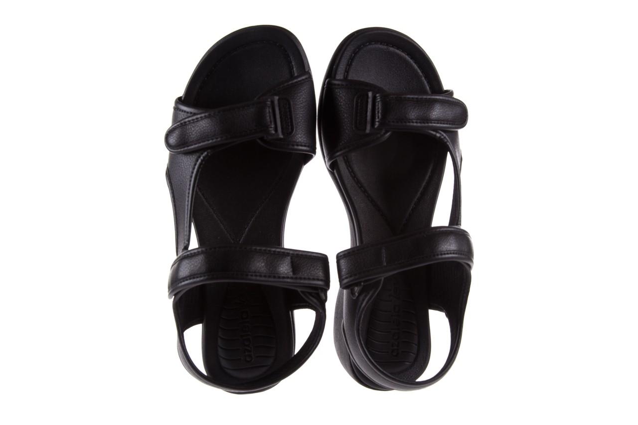 Sandały azaleia 346 602 napa black, czarny, materiał  - azaleia - nasze marki 11