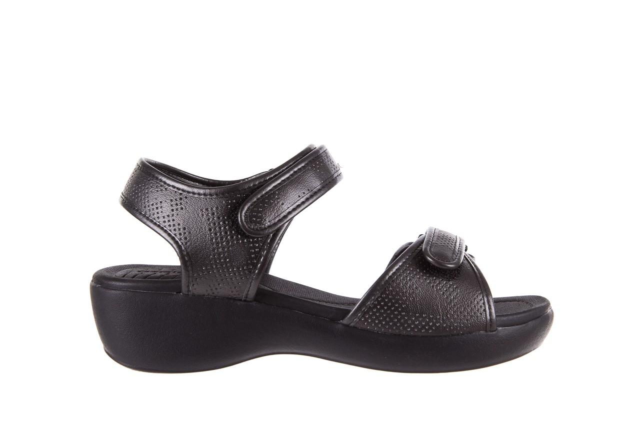 Sandały azaleia 346 601 perf black, czarny, materiał 7