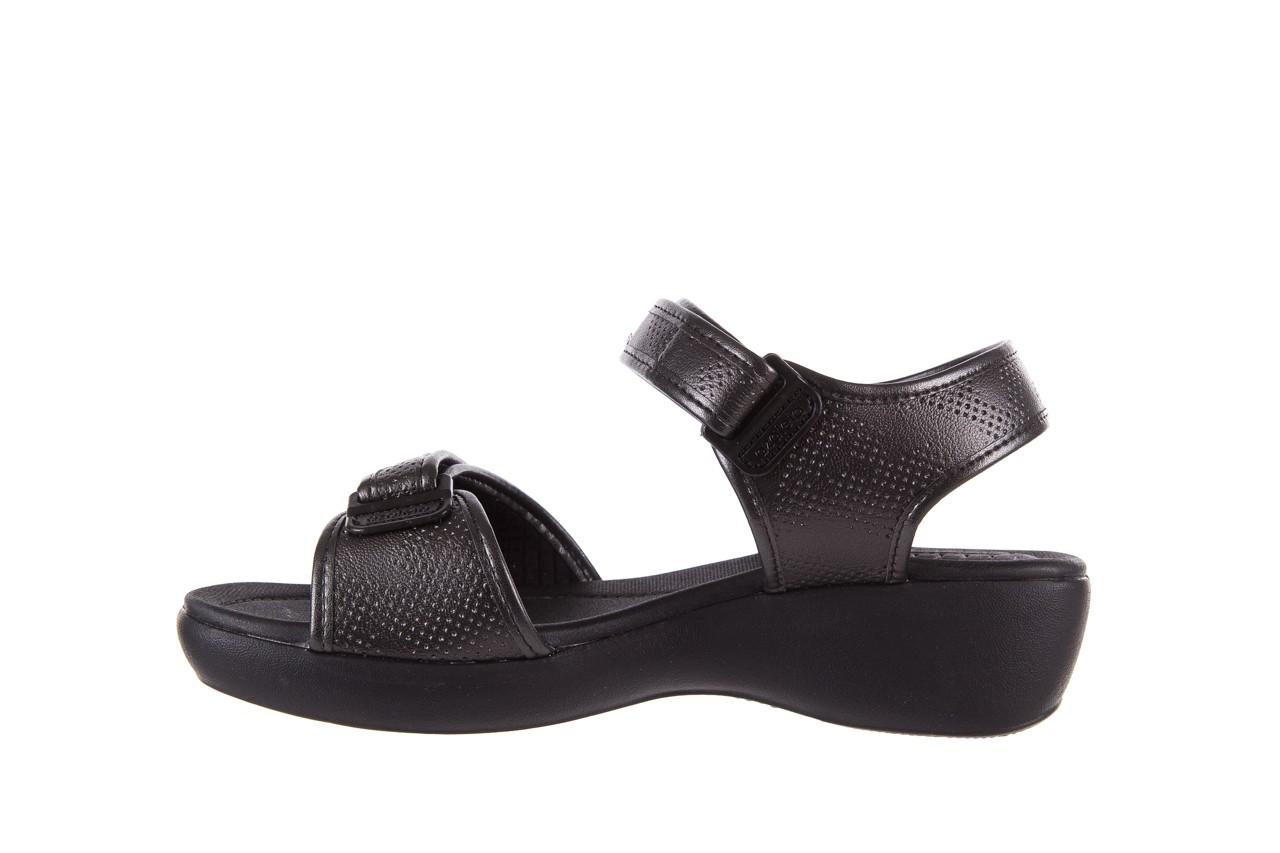 Sandały azaleia 346 601 perf black, czarny, materiał 9