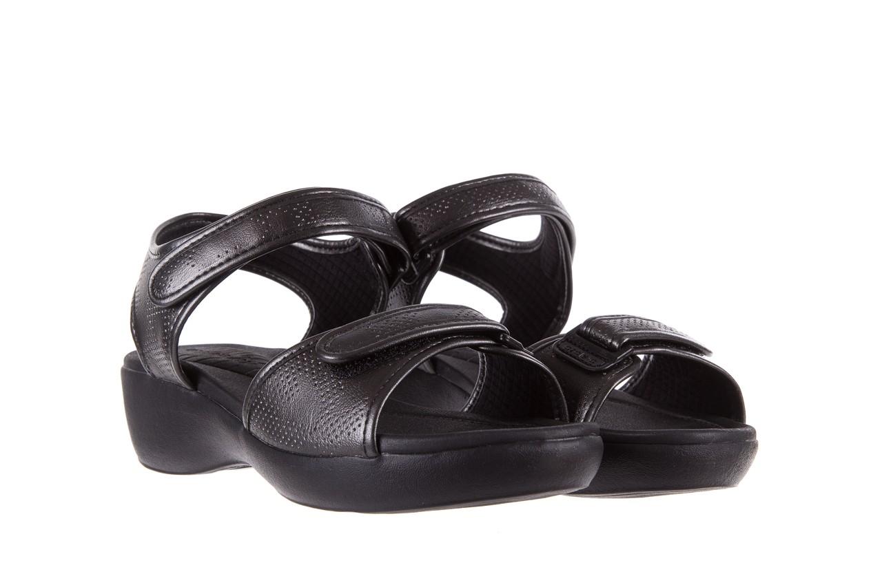 Sandały azaleia 346 601 perf black, czarny, materiał 8