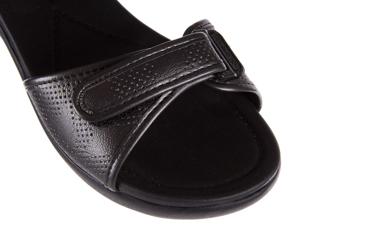 Sandały azaleia 346 601 perf black, czarny, materiał 12