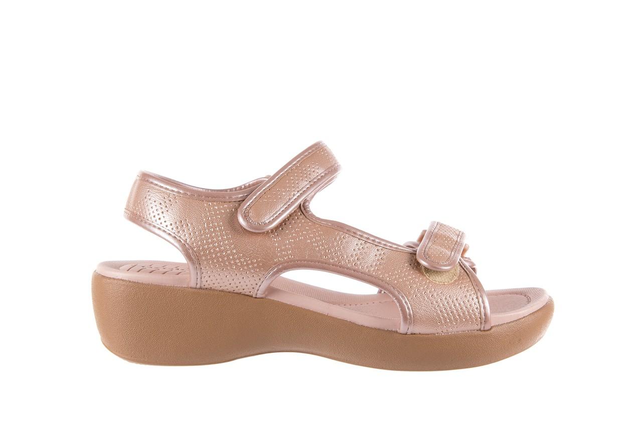 Sandały azaleia 346 602 perf iguan, róż, materiał - sandały - letnie hity cenowe 7