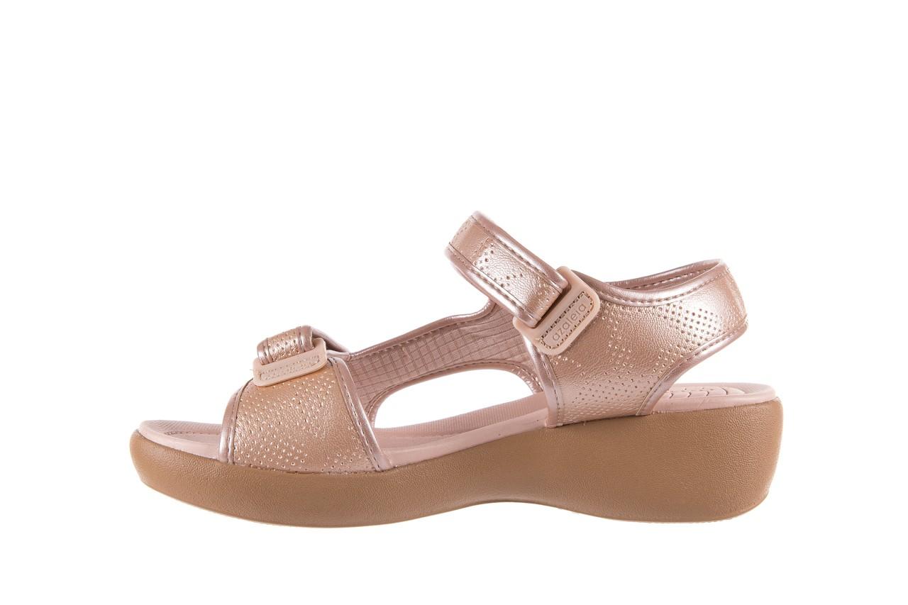 Sandały azaleia 346 602 perf iguan, róż, materiał - sandały - letnie hity cenowe 9