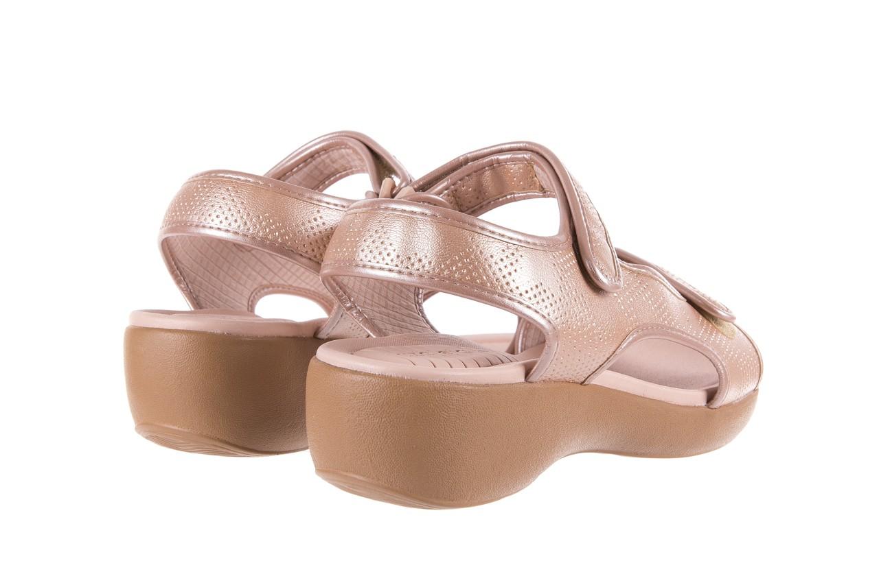 Sandały azaleia 346 602 perf iguan, róż, materiał - sandały - letnie hity cenowe 10