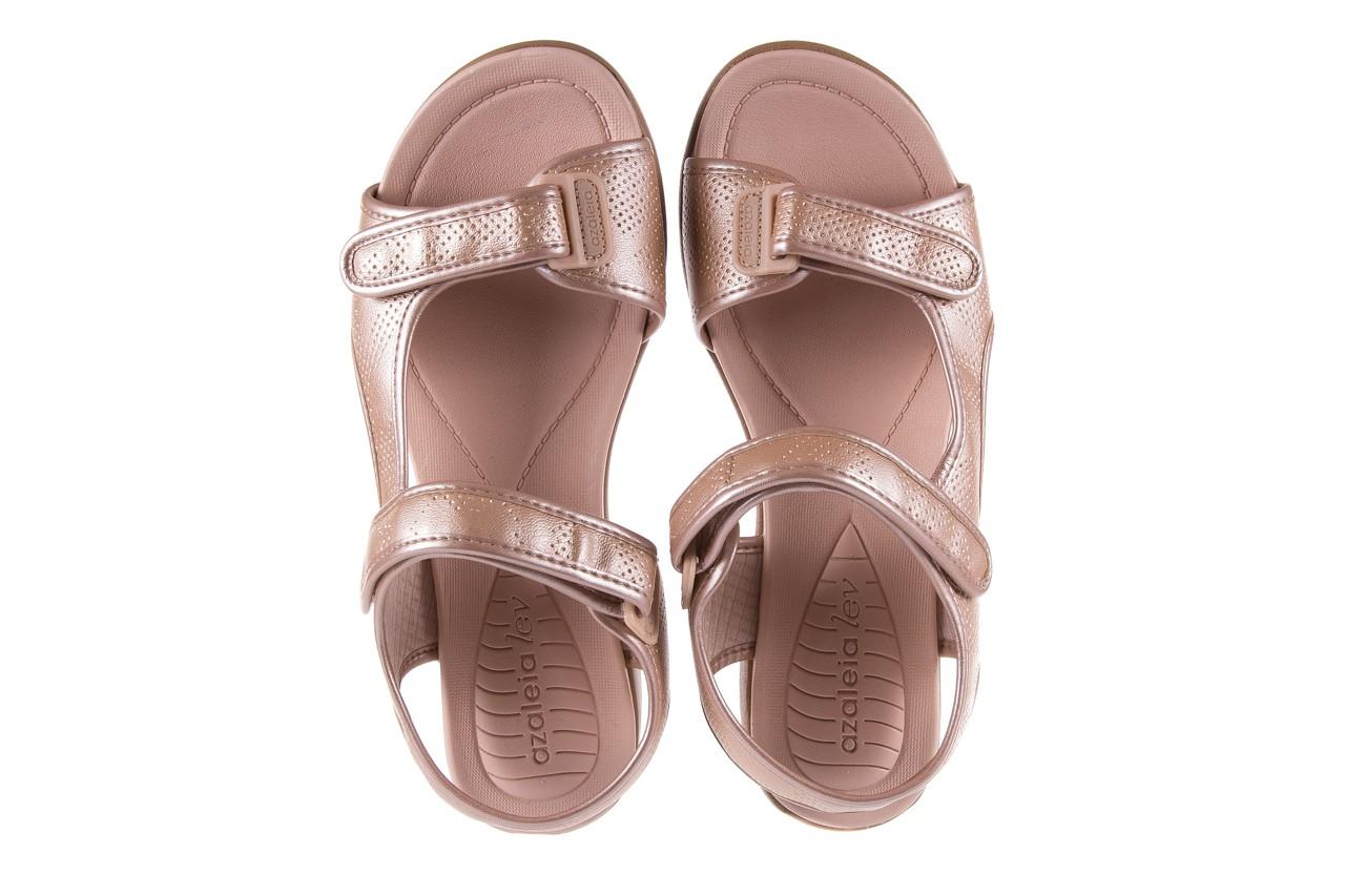 Sandały azaleia 346 602 perf iguan, róż, materiał - sandały - letnie hity cenowe 11