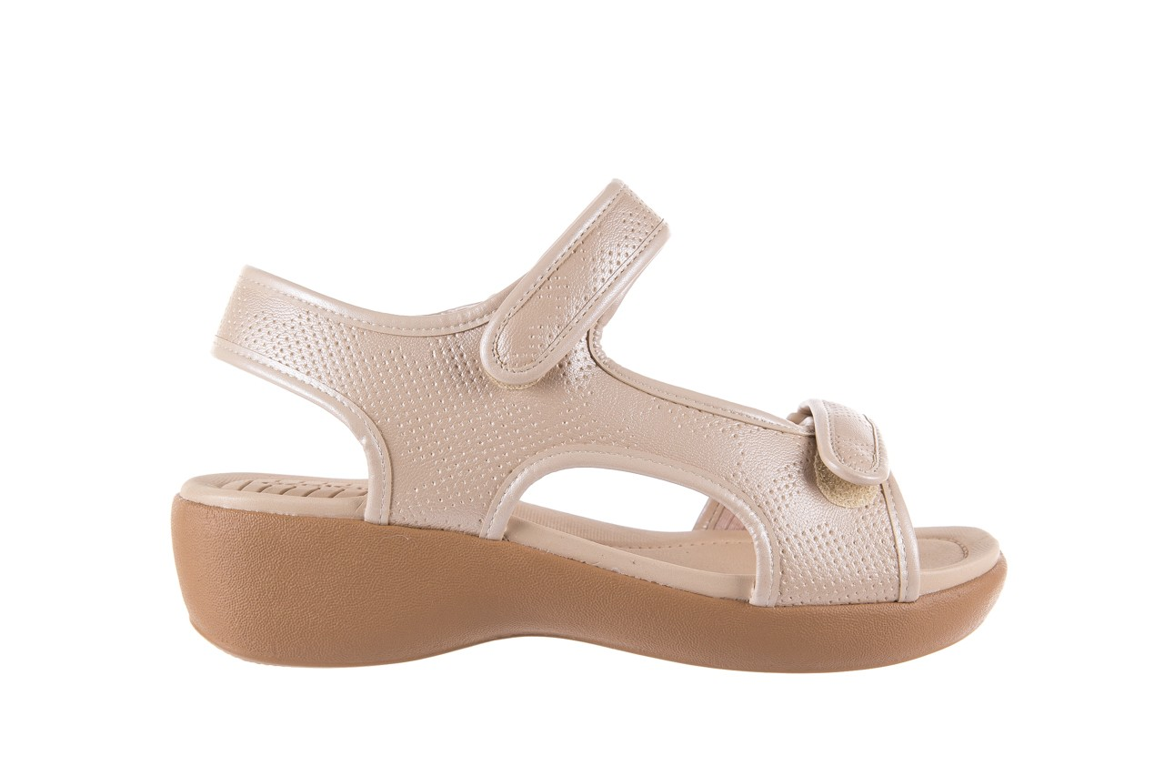 Sandały azaleia 346 602 perf ivory, beż, materiał 7