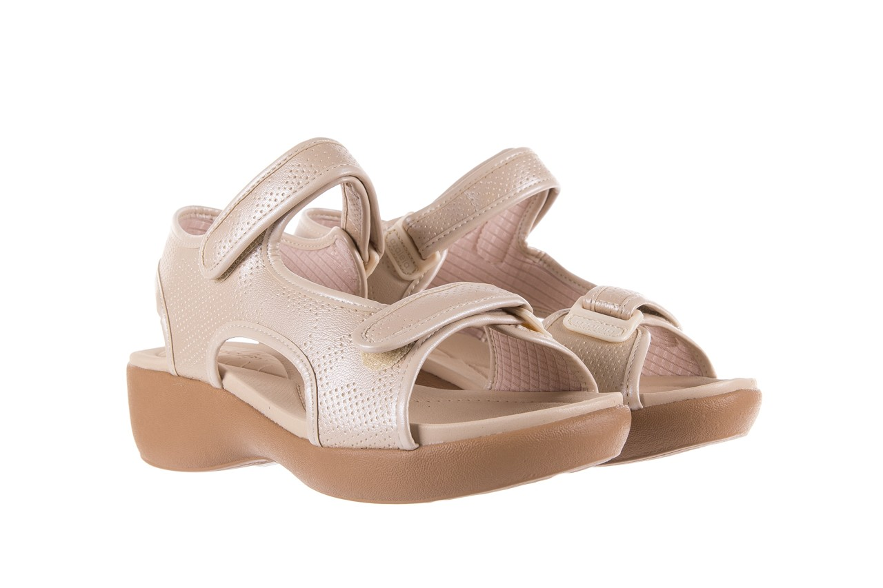 Sandały azaleia 346 602 perf ivory, beż, materiał 8