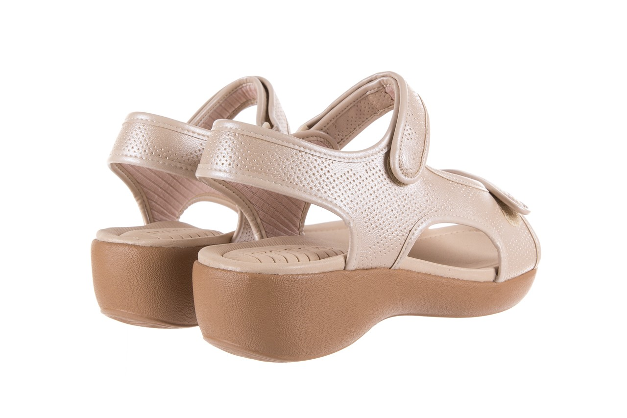 Sandały azaleia 346 602 perf ivory, beż, materiał 10