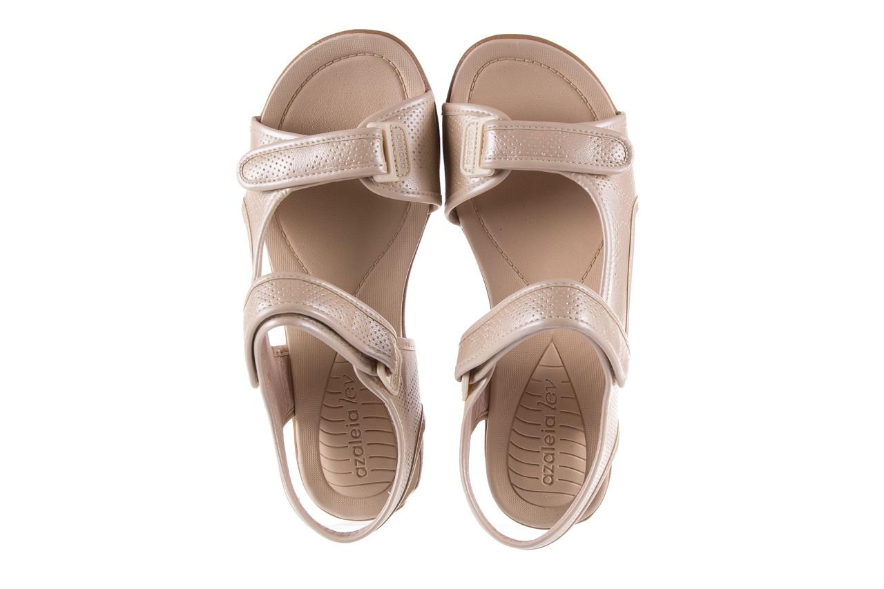 Sandały azaleia 346 602 perf ivory, beż, materiał 11