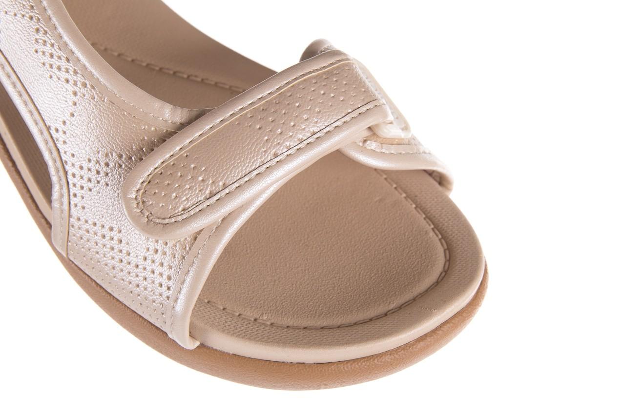 Sandały azaleia 346 602 perf ivory, beż, materiał 13