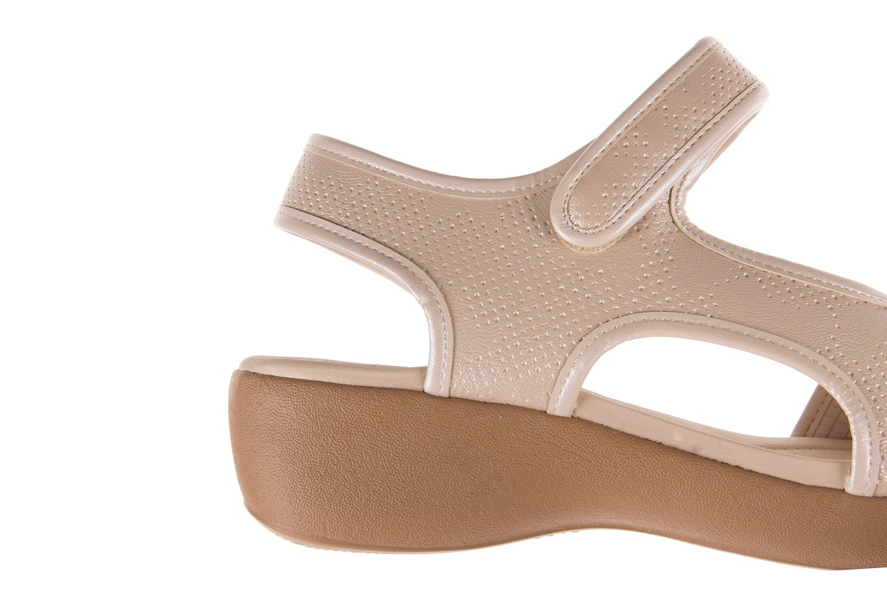 Sandały azaleia 346 602 perf ivory, beż, materiał 12