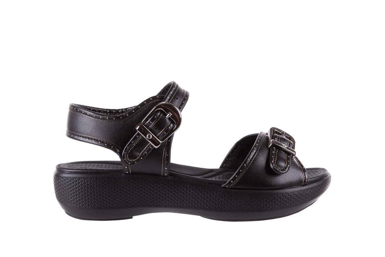 Sandały azaleia 355 788 napa black, czarny, materiał - sandały - letnie hity cenowe 7