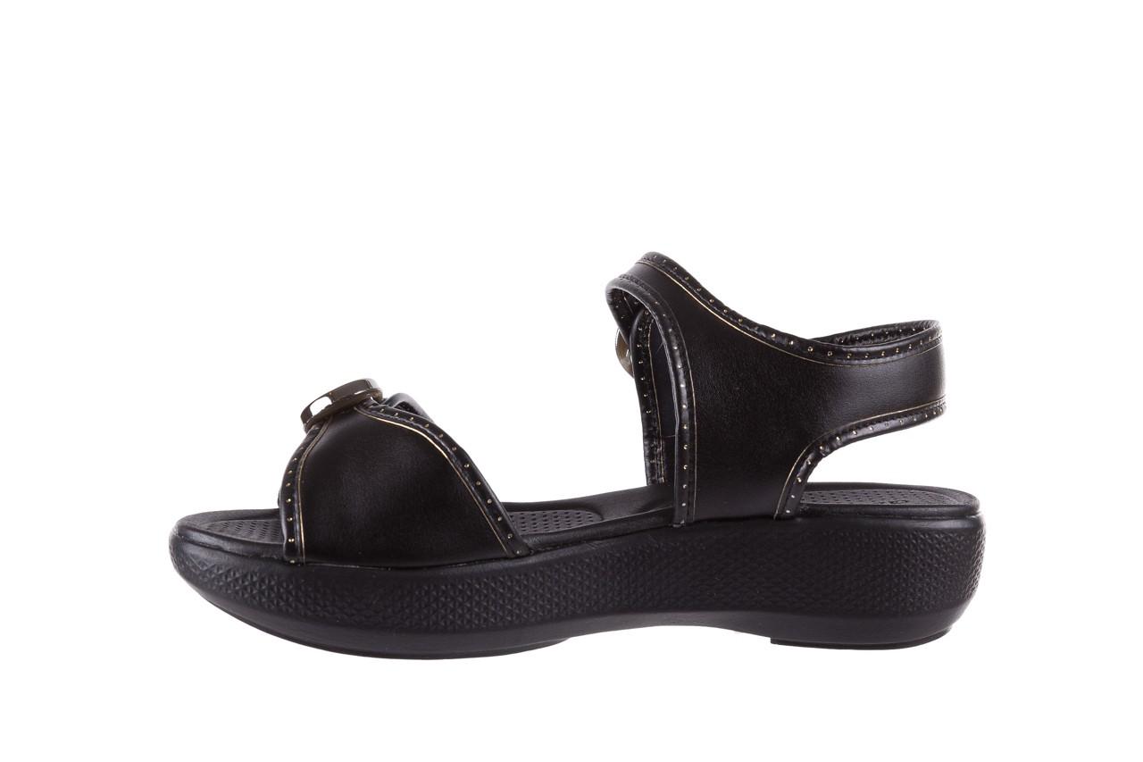 Sandały azaleia 355 788 napa black, czarny, materiał - sandały - letnie hity cenowe 9