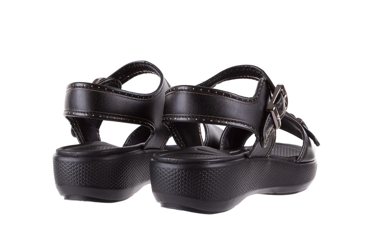 Sandały azaleia 355 788 napa black, czarny, materiał - sandały - letnie hity cenowe 10