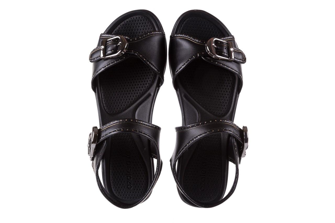 Sandały azaleia 355 788 napa black, czarny, materiał - sandały - letnie hity cenowe 11