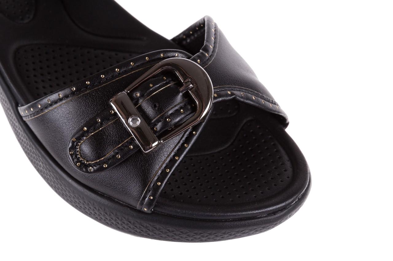 Sandały azaleia 355 788 napa black, czarny, materiał - sandały - letnie hity cenowe 12