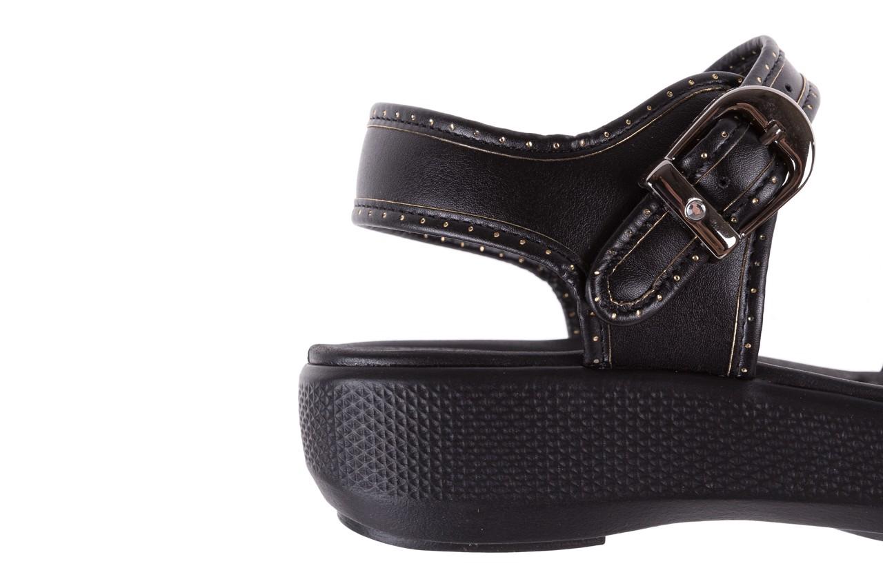 Sandały azaleia 355 788 napa black, czarny, materiał - sandały - letnie hity cenowe 13
