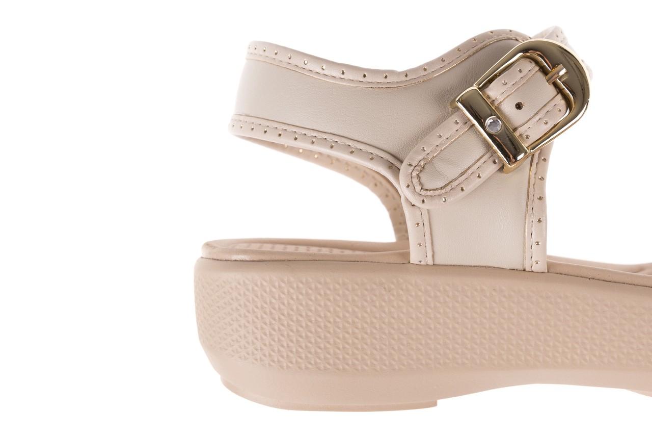 Sandały azaleia 355 788 napa ivory, beż, materiał - sandały - letnie hity cenowe 13