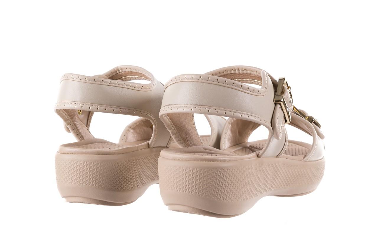 Sandały azaleia 355 788 napa ivory, beż, materiał - sandały - letnie hity cenowe 11