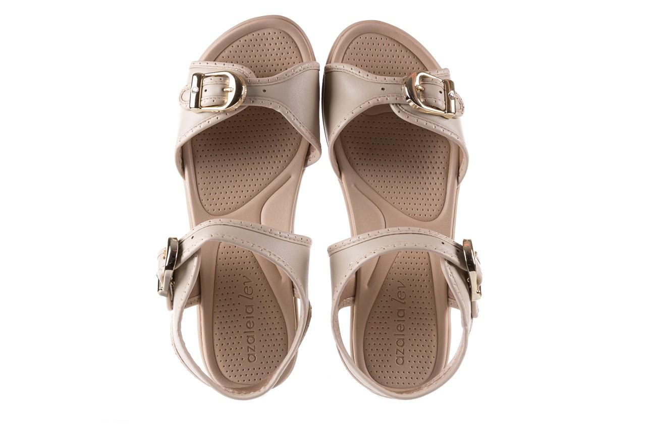 Sandały azaleia 355 788 napa ivory, beż, materiał - sandały - letnie hity cenowe 10