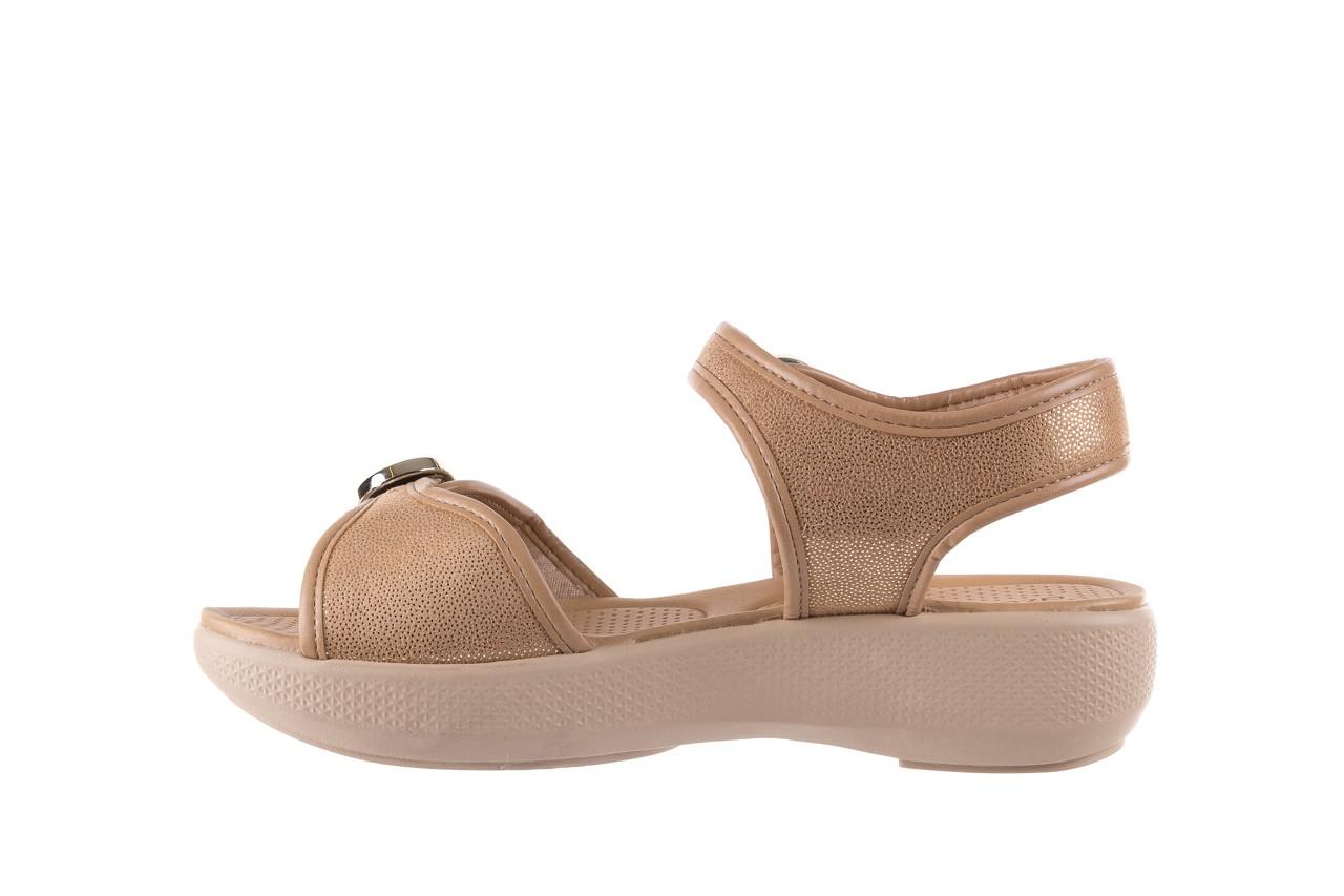 Sandały azaleia 355 789 point beige, beż, materiał - sandały - letnie hity cenowe 9