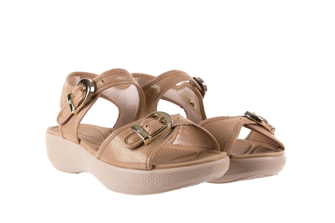 Sandały azaleia 355 789 point beige, beż, materiał - sandały - letnie hity cenowe 8