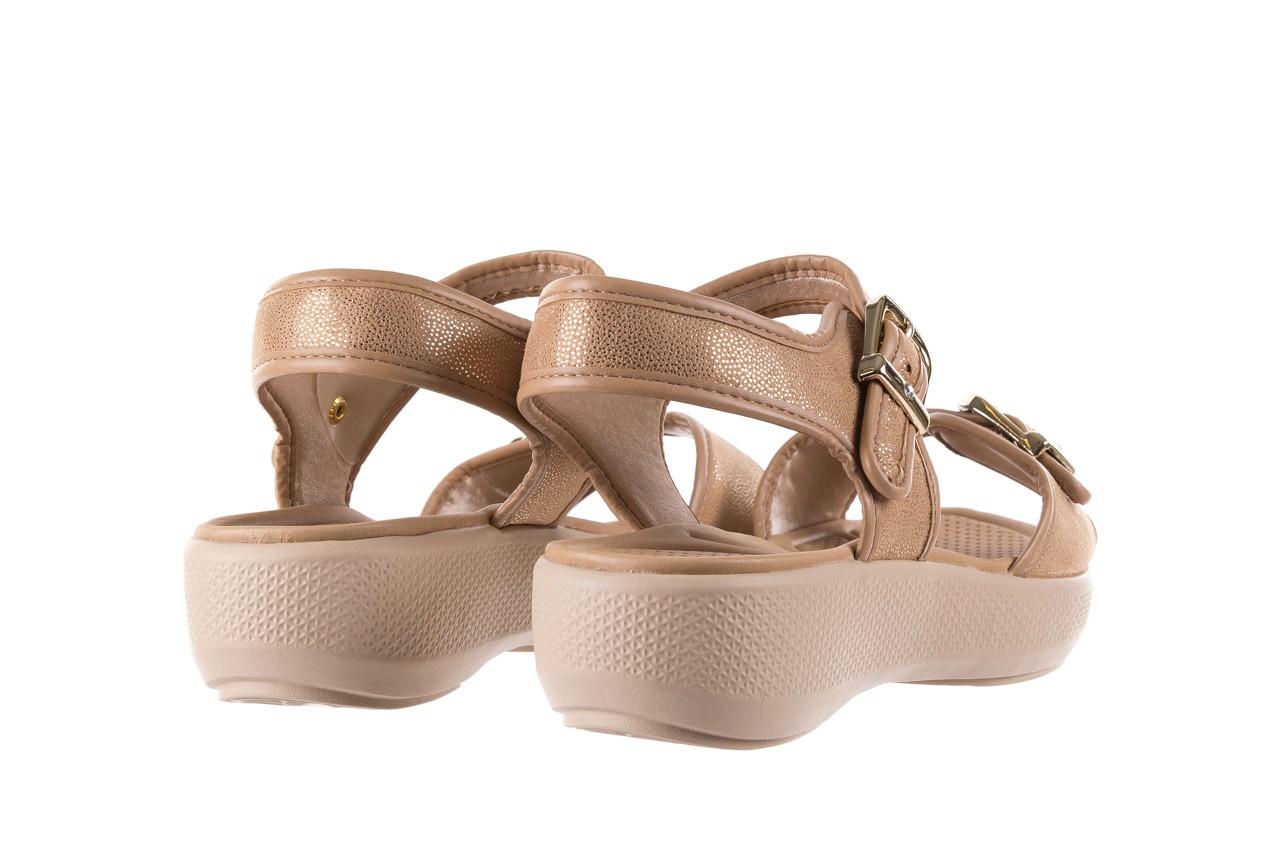 Sandały azaleia 355 789 point beige, beż, materiał - sandały - letnie hity cenowe 10