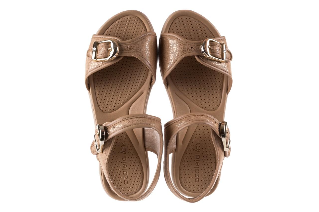 Sandały azaleia 355 789 point beige, beż, materiał - sandały - letnie hity cenowe 11