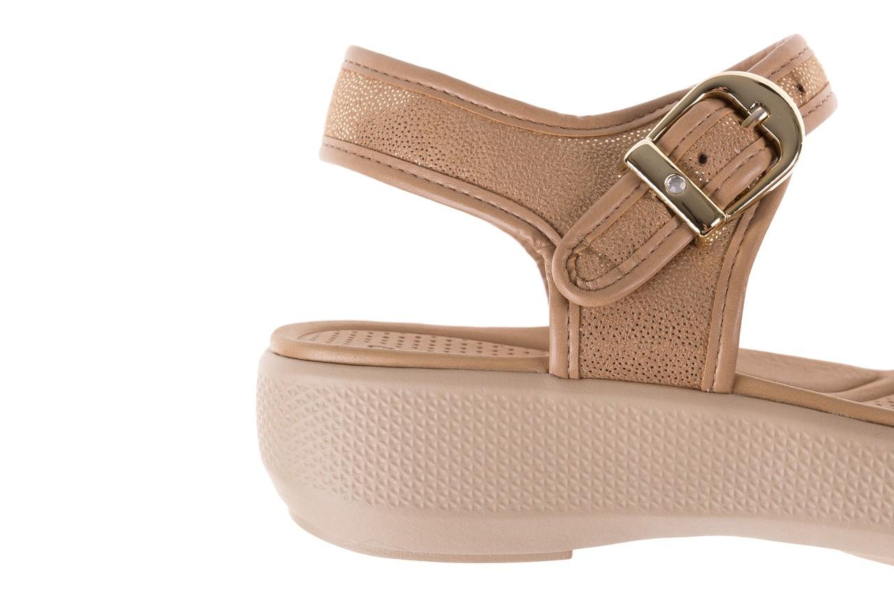Sandały azaleia 355 789 point beige, beż, materiał - sandały - letnie hity cenowe 13