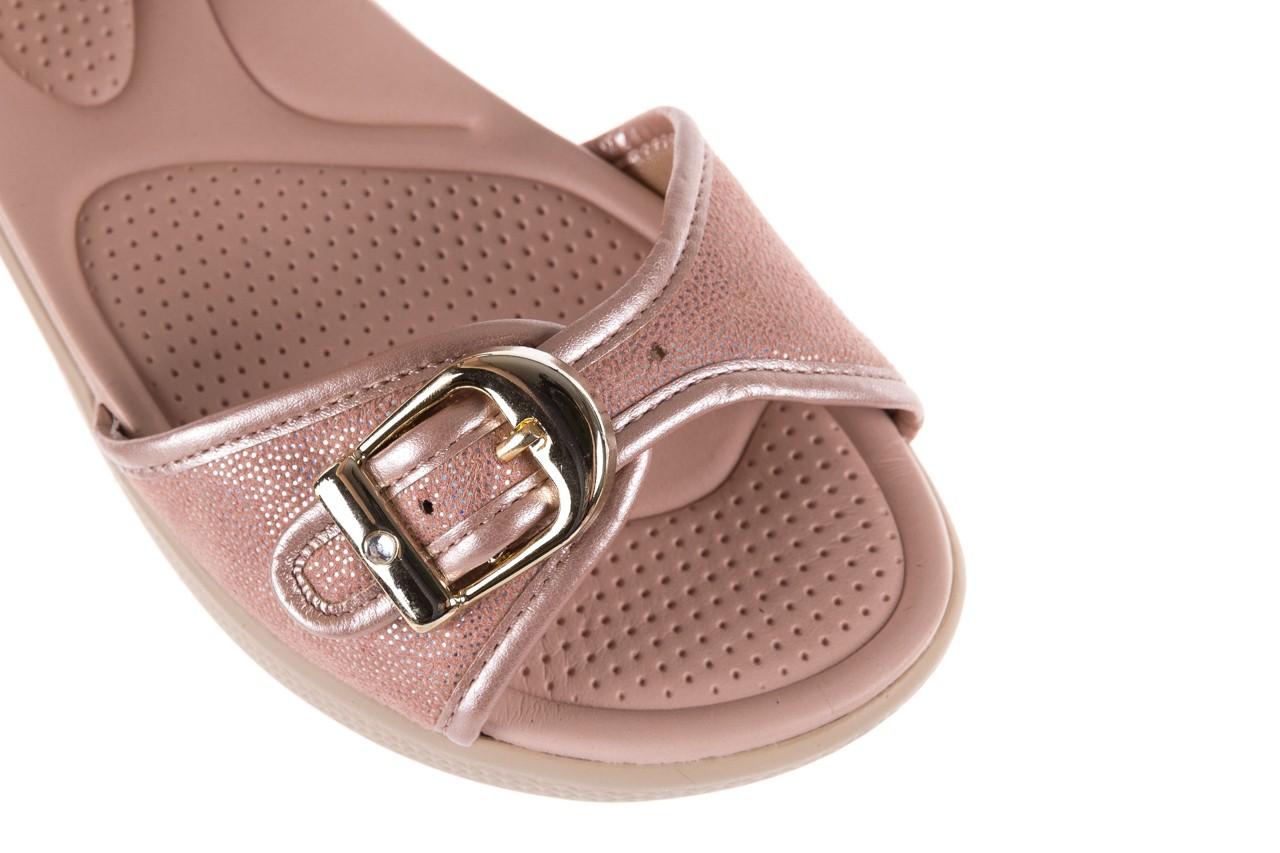 Sandały azaleia 355 789 point rose, róż, materiał  - sandały - letnie hity cenowe 12