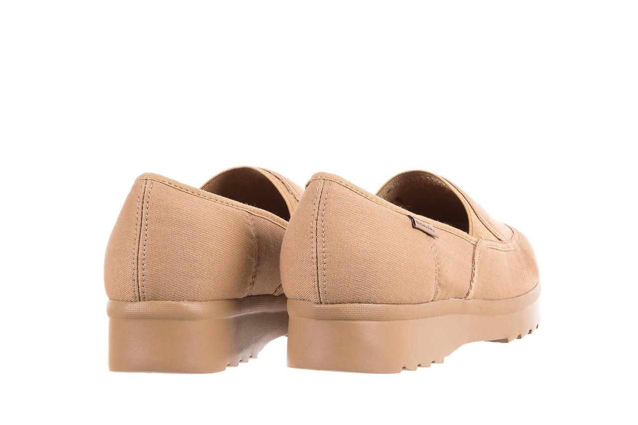 Półbuty azaleia 630 187 beige, beż, materiał  - obuwie sportowe - dla niej - dodatkowe -10% 10